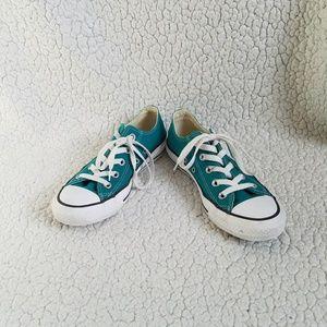 Converse Green Shoes Sneakers Women's 6 Low Top